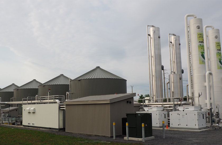 A biogas treatment plant